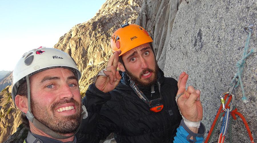 Rock climbing partners in Patagonia