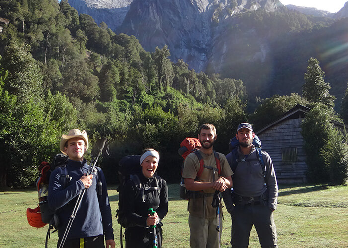 Group of climbers in Patagonia