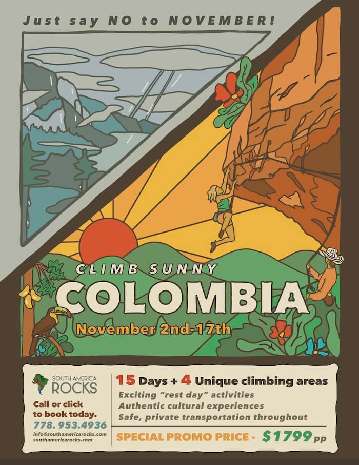 Colombia tour promo poster