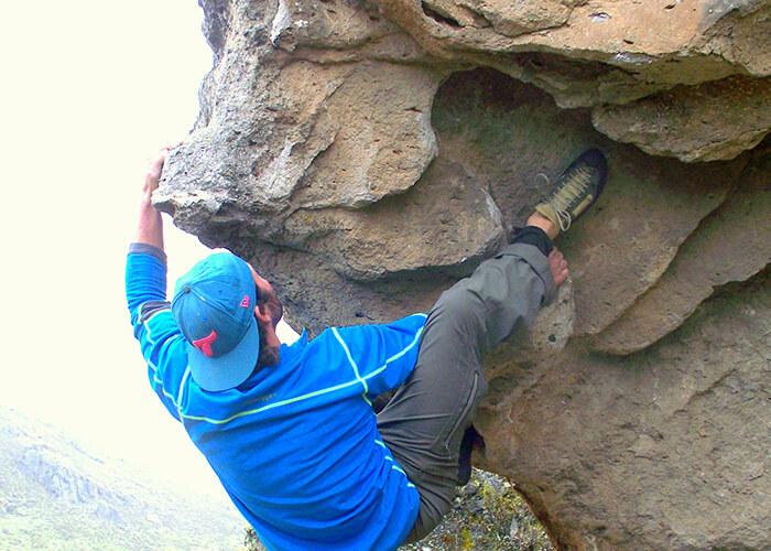 Man climbing in Peru